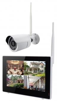 IP-Kamerasystem drahtlos mit 9 Zoll Touchscreen 1 x Kamera 500GB Festplatte