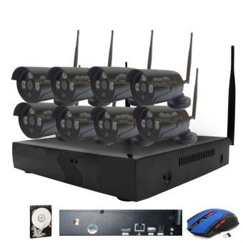 drahtloses HD Kamerasystem mit 8 Kameras und eingebauter Festplatte, Betrieb auch ohne Internetanschluss möglich