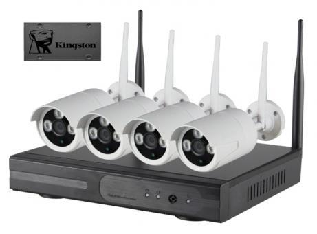 IP-Kamerasystem 4 Cam (weiß) 120GB SSD (geräuschloser Betrieb)
