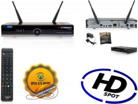 Octagon SF8008 4K Twin 2 x DVB-S2X Tuner und HbbTV