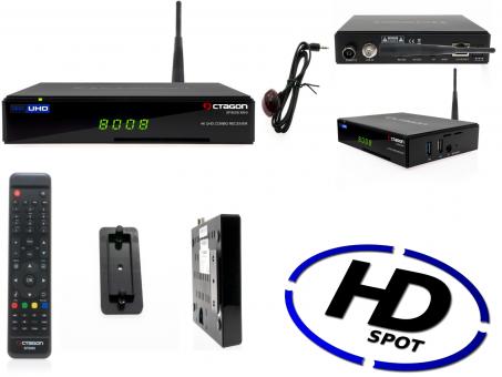 Octagon SF8008 Mini Combo 4K UHD E2 DVB-S2X & DVB-C/T2 Combo (DUAL OS)